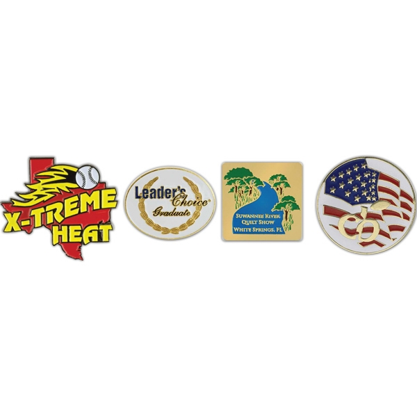 Imprinted Die Struck Soft Enamel Lapel Pins