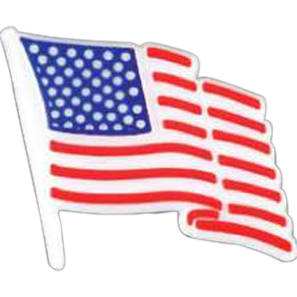 Personalized Patriotic plastic lapel pin