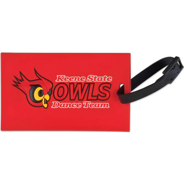 "Imprinted PVC Luggage tags (up to 4"" x 2.75)"