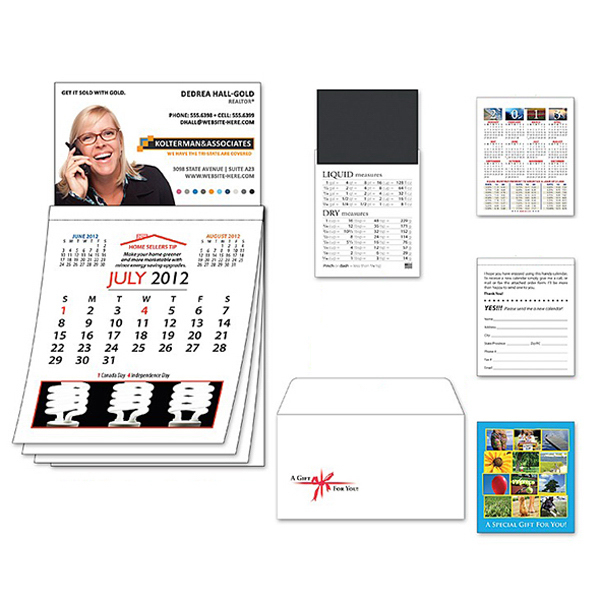 Personalized Magna-Cal Business Card Magnet R.E. Calendar - July 2012