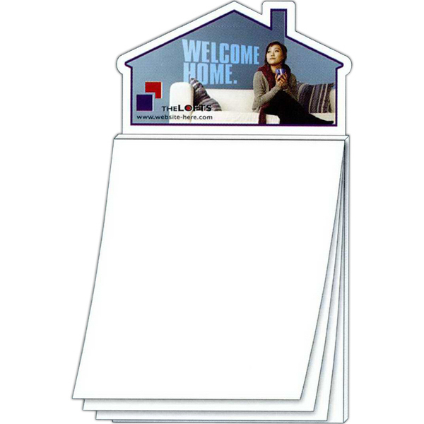 Promotional Magna-Pad House Shape Magnet - BLANK Sheet (50 Sheet)