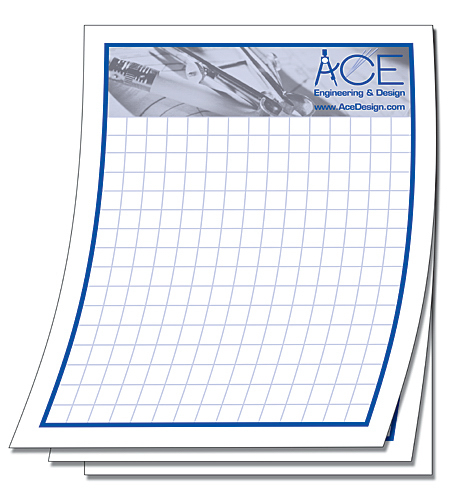 Promotional Scratch Pad - 25 Sheets - 4.25x5.5