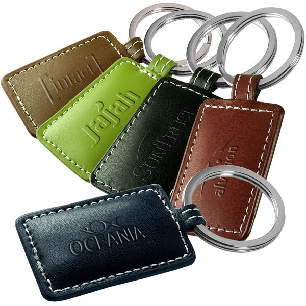 Personalized Limelight Leather Key Fob