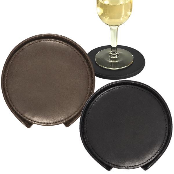 Imprinted Lincoln Center Round Coaster Set