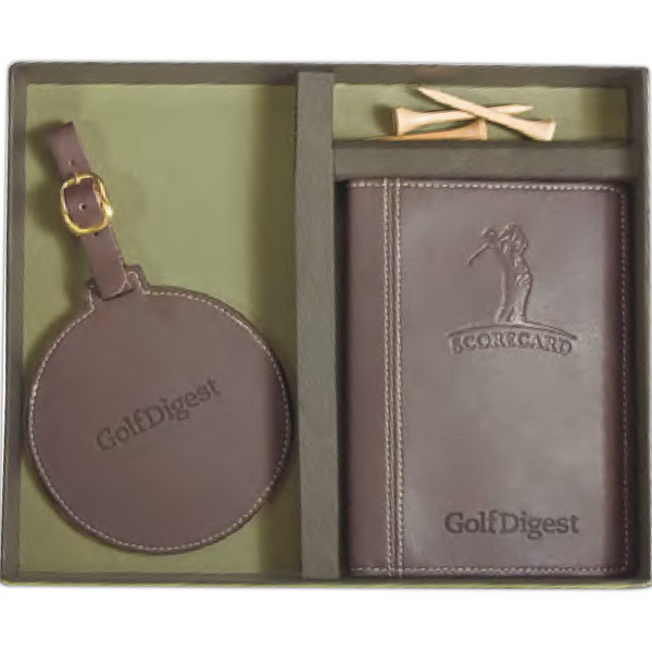 Custom Woodbury Golf Scorecard/Round Golf Tag Set