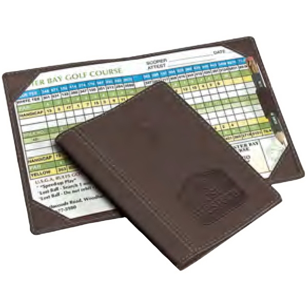 Imprinted Woodbury Golf Scorecard Holder