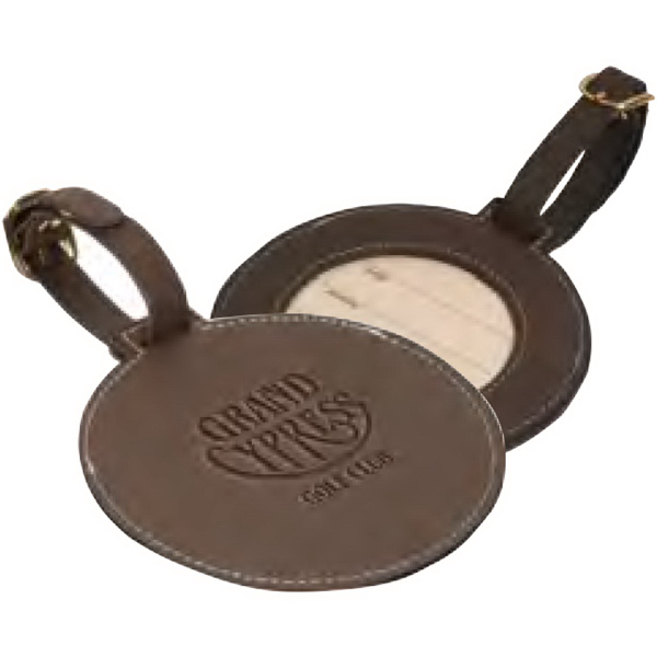 Promotional Woodbury Round Golf Tag