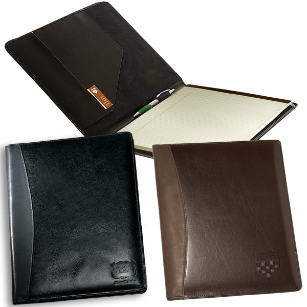 Imprinted Leeman New York Soho Leather Business Portfolio
