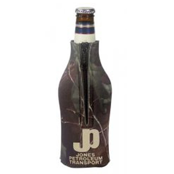 Customized Zippered Bottle Coolie (TM) - Trademark Camo