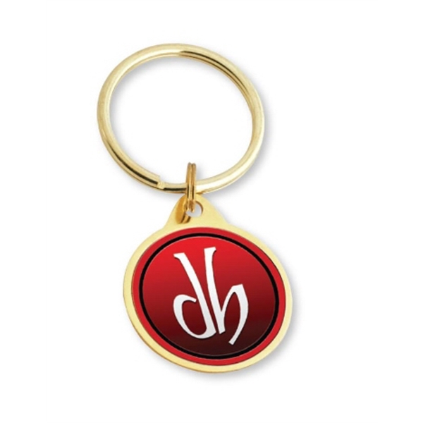 Personalized Circle Key Tag