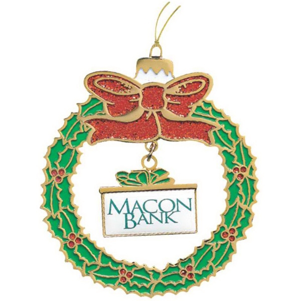Imprinted Wreath Ornament