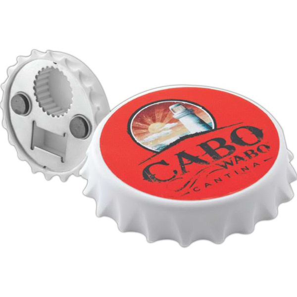 Imprinted Bottle/Can Opener Magnet