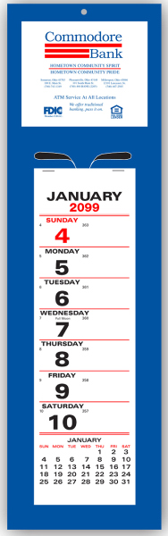 Customized Week-on a page memo wall calendar