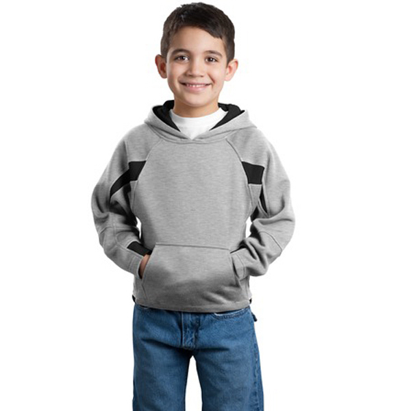 Personalized Sport-Tek® youth color spliced sweatshirt