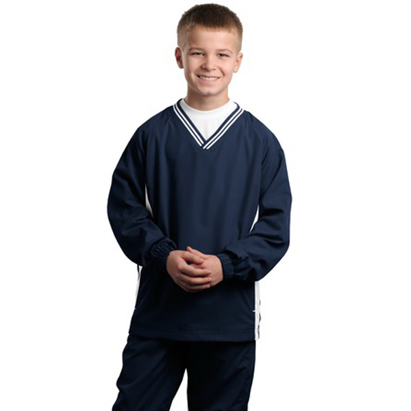 Customized Youth Sport-Tek® tipped v-neck wind shirt