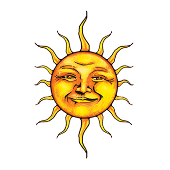 Promotional Sun Temporary Tattoo