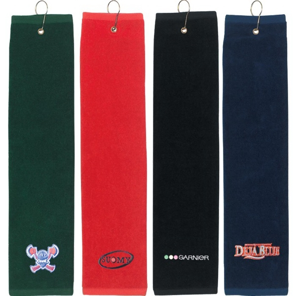 "Personalized Tri Fold Golf Towel (16"" x 22"")"