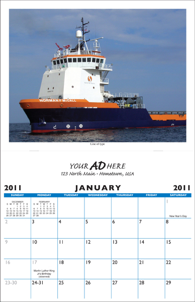 Personalized Saddle Stitched 13 Picture Custom Calendar