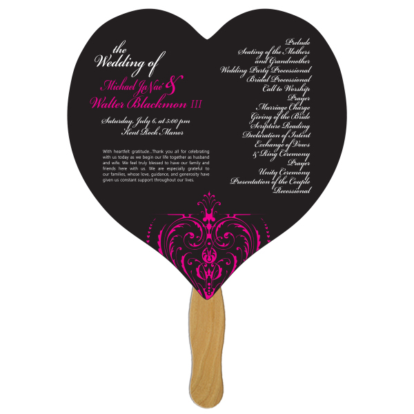 Promotional Heart offset fan