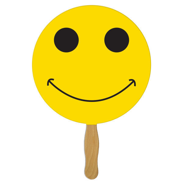 Customized Smiley face full color fan