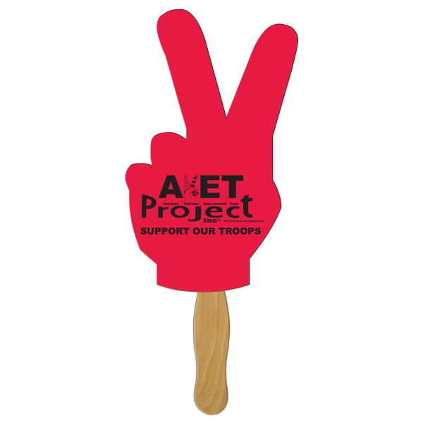 Promotional Peace sign offset fan