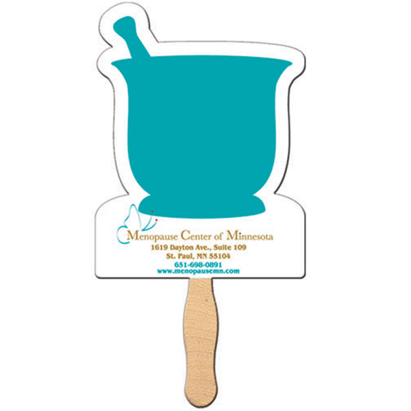 Promotional Mortar and Pestle offset fan
