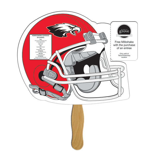 Printed Helmet coupon fan