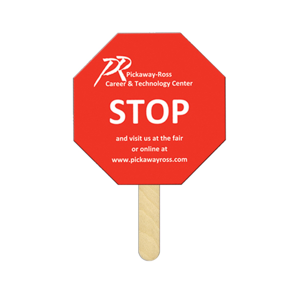 Custom Stop Sign full color mini fan