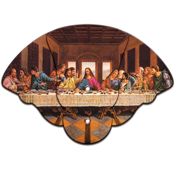 Imprinted Last Supper expandable fan