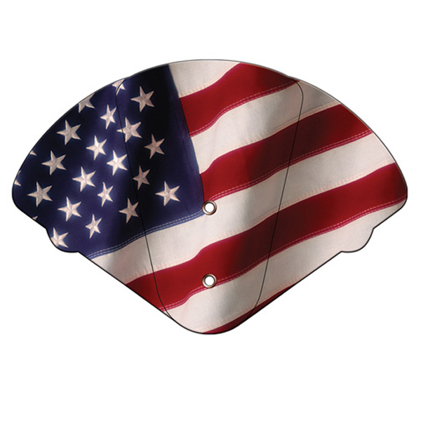 Imprinted Flag expandable fan