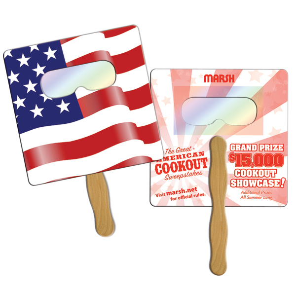 Imprinted Flag firework fans