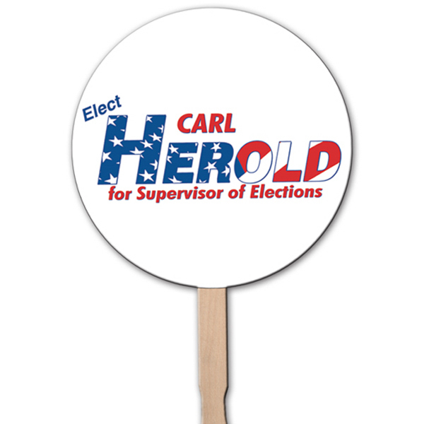 Personalized Circle rally sign