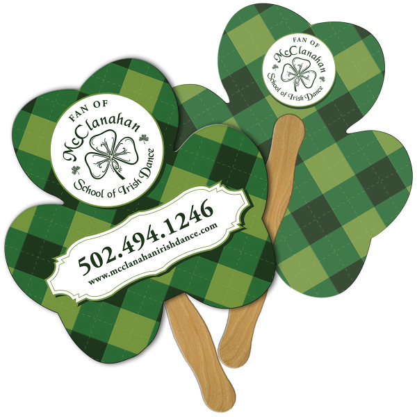 Personalized Shamrock full color fan