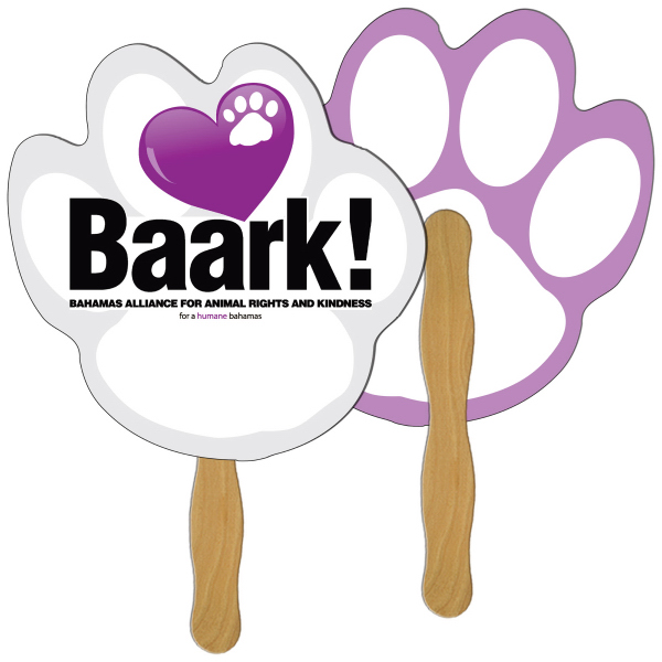 Promotional Paw print full color fan