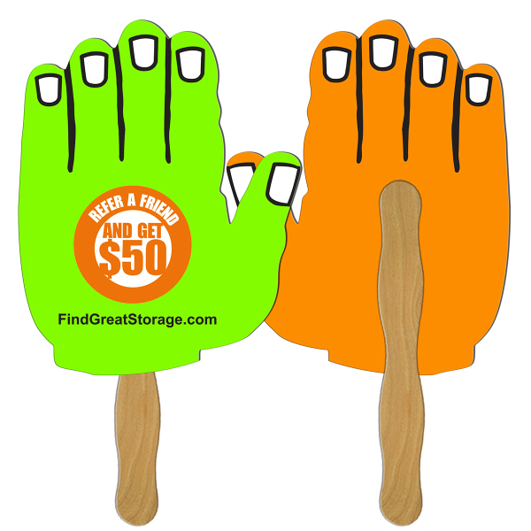 Imprinted Hand full color fan