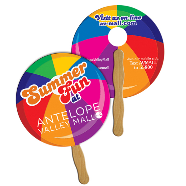Imprinted Round/Ball full color fan