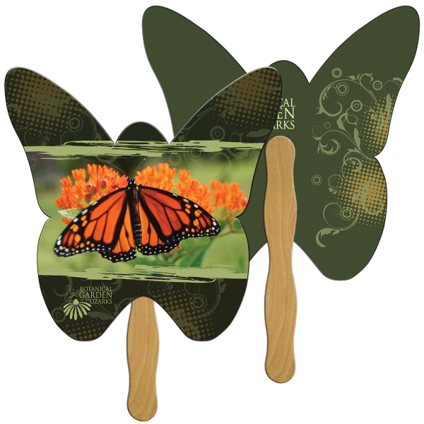 Imprinted Butterfly full color fan