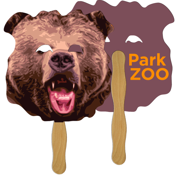 Imprinted Bear full color fan
