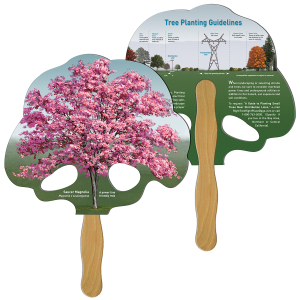 Imprinted Tree full color fan