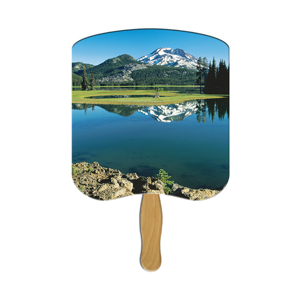 Custom Mountain scene fan