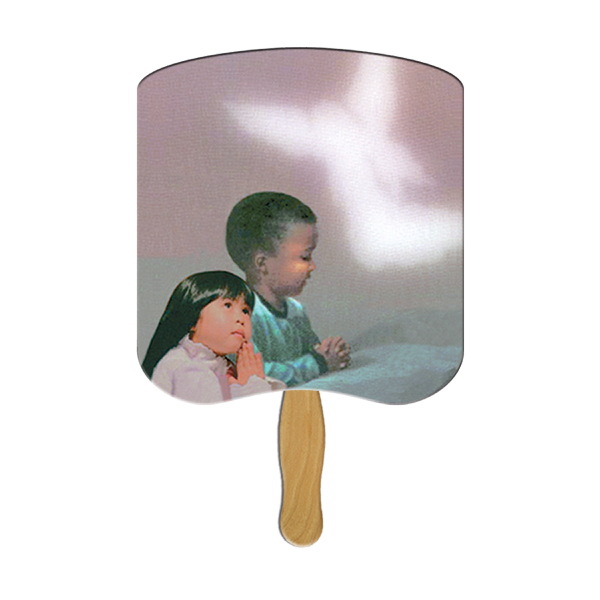 Imprinted Praying Children stock fan