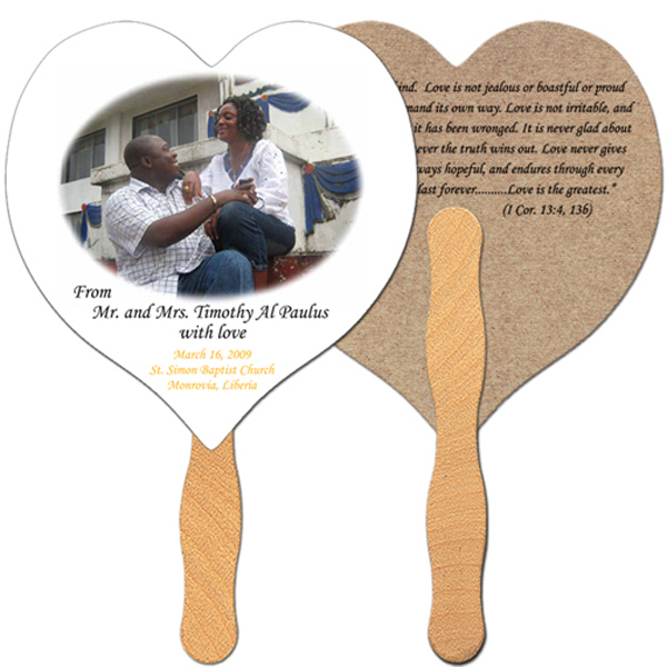 Personalized Heart recycled fan