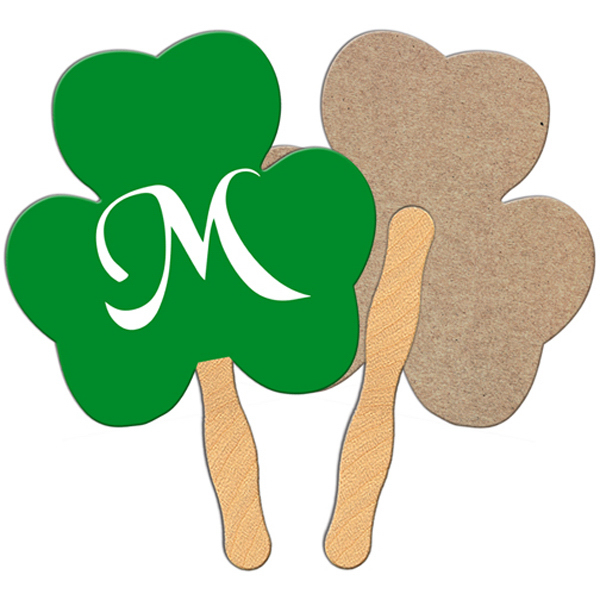 Custom Shamrock recycled fan