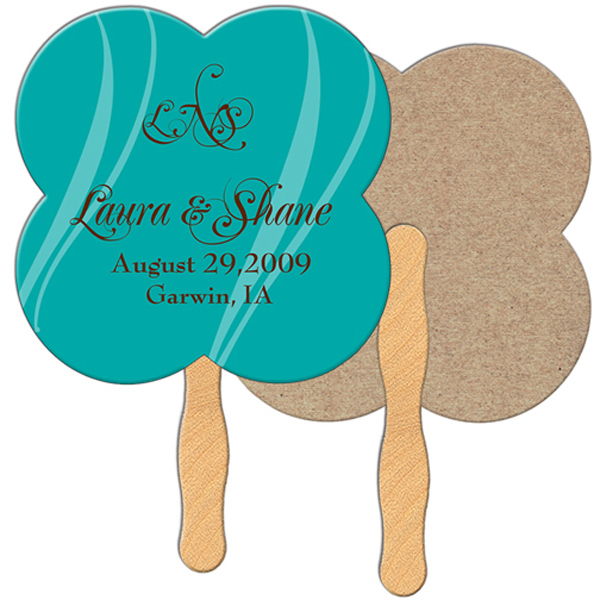 Personalized Clover recycled fan