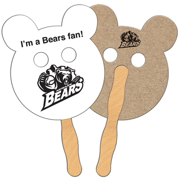 Imprinted Panda Bear recycled fan