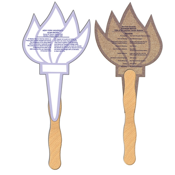 Imprinted Torch recycled fan