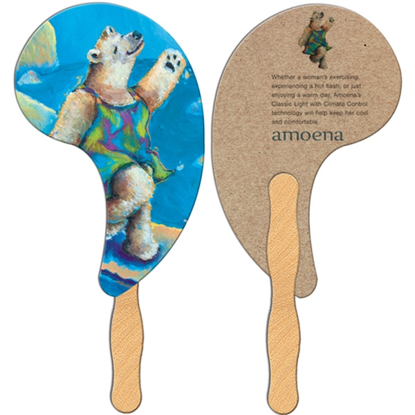 Imprinted Comma Fan - Recycled Stock