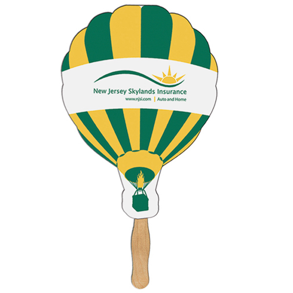 Printed Hot Air Balloon sandwich fan