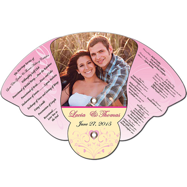 Imprinted Wedding Expandable Fan
