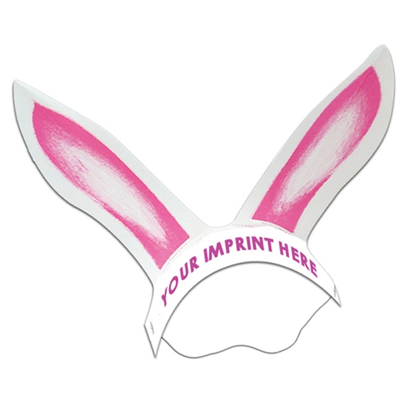 Imprinted Rabbit Ears with Elastic Band